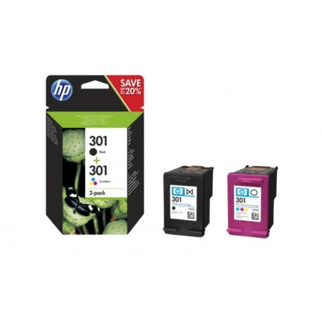 HP 301 COMBO BLISTER NERO/TRICROMIA (N9J72AE301)