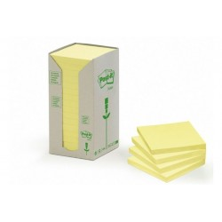 CF16POST-IT RICICL 654-1T GIALLO (91315)