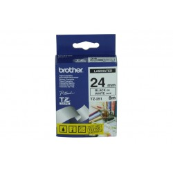 TZE-251 NASTRO BROTHER 24MM B/N (TZE251)