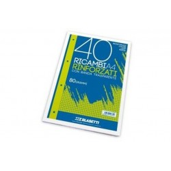 RICAMBI A4 BIANCO LISCIO 40FF (2339-)