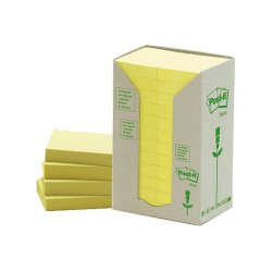 CF24POST-IT RICICL 653-1T GIALLO (90257)