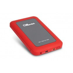 BOX 2 5 USB3.0 RUGGED MIRROR RED (HXD25U3MRD)