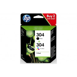 HP 304 INK CARTRIDGE COMBO 2-PACK (3JB05AE301)