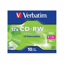 CD-RW 700MB 80 RISCRIV.12X CF.10 ) (43148)