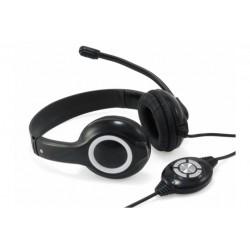USB COMFORT.STEREO HEADSET BLACK (CCHATSTARU2B)
