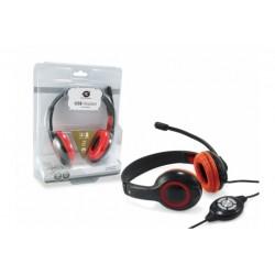 USB COMFORT.STEREO HEADSET RED (CCHATSTARU2R)