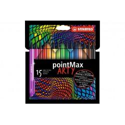 STABILO POINTMAX 15PCS WALLET ARTY (488/15-1-20)