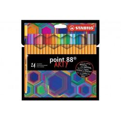 STABILO POINT 88 24PCS WALLET ARTY (8824/1-20)